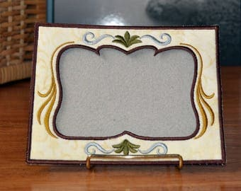 Embroidered Scrollwork Photo Frame