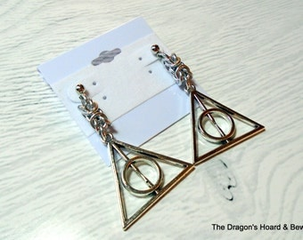 Made to Order - Deathly Hallows Byzantine Earrings