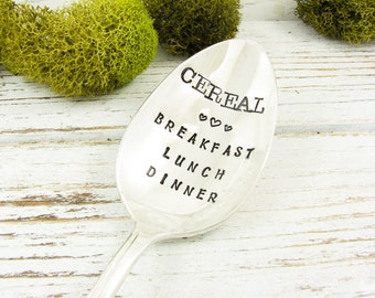 Stamped Cereal Spoon. Cereal Breakfast Lunch Dinner. Vintage Spoon That is Perfect for the Cereal Lover. March Spoon of the Month. 610SP
