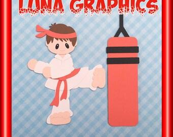 MARTIAL ARTS KARATE Taekwondo Embellishments Paper Piecing card making and scrapbooking