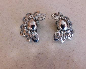 Amazing Earrings, So Artistic, Large Clip On Earrings, Fabulous Design, Nice Metal Weight