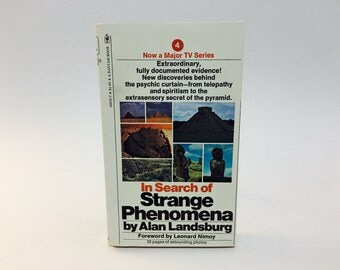 Vintage Non-Fiction Book In Search of Strange Phenomena by Alan Landsburg 1977 Paperback