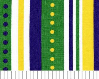 Mardi Gras Print Fabric -  Stripe