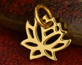 14k Gold Tiny Lotus Flower Necklace - Yoga Jewelry. Solid Gold Yoga Charms. Spiritual Fine Jewelry