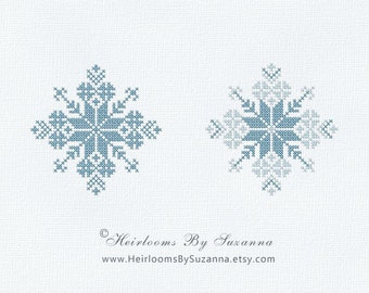 Machine Cross Stitch - Machine Embroidery - Snowflake - Winter - Holiday Design - Design for Ornament - 4x4 - INSTANT Download - Snowflake-3