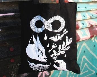 Dark Allies - Silkscreen Black Tote Bag