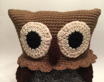 Crochet Amigurumi Brown Owl Plush