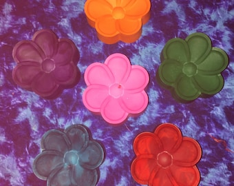 Big flower crayons
