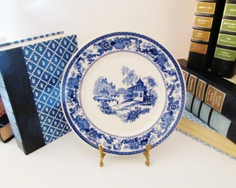 Syracuse China Blue and White Chinoiserie Plate, Gallery Wall Decor, Blue And White Decor, Blue Willow Style