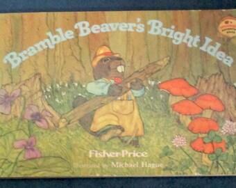Fisher-Price Toy #606 Woodsey Bramble Beaver book Bright Idea 1981-82