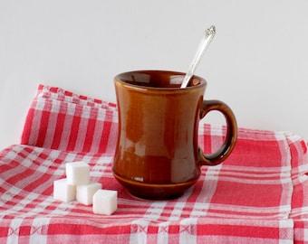 Crestware Brown Stoneware Coffee Mug. Vintage Kitchenware. Restaurant Tableware. Coffee Lover Gift. Farmhouse Kitchen Drinkware. Housewares.