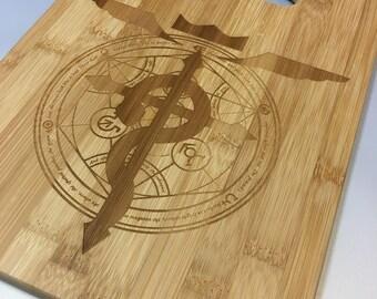 Fullmetal Alchemist Bamboo Cutting Board-Medium
