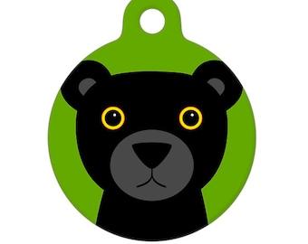 Pet ID Tag - Black Panther Pet Tag, Dog Tag, Cat Tag, Luggage Tag, Child ID Tag