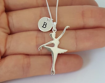 Sterling Silver Ballerina Necklace, Ballet Dancer Necklace, Personalized necklace, Birthday Gift, Children's Jewelry, Kids Jewelry,Girl Gift