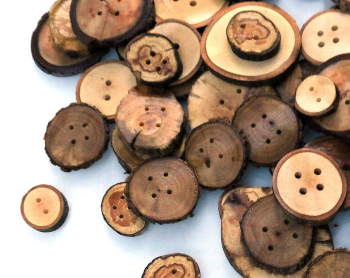30 Assorted Extra Large Buttons 2-3.5in Diameter