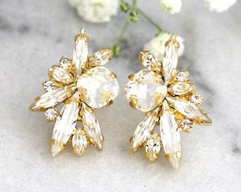 Bridal Earrings, Bridal Crystal Earrings, Bridal cluster Earrings, Swarovski Bridal Earrings,Bridesmaids Earrings,Bridal Clear Crystal Studs