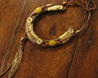 LUCK CATCHER  Recycled and Hand tied Horseshoe Ornament