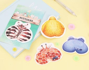 Cute Animal Sticky Notes - Stick Note Notepad Mini Notepad Post It
