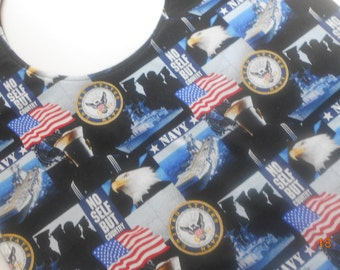 U. S. Navy, Marines, Army or Air Force X Large X Long New Handmade Adult Bibs