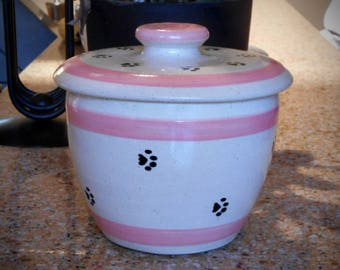 Paws for Treats in Pink - Treat Jar (Medium)