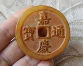 Carving  Carved Chinese Old Money Jade Pendant Jade Pendant, Double Face Jade Pendant Amulet Talisman,Jade Necklace Pendant Jewerly