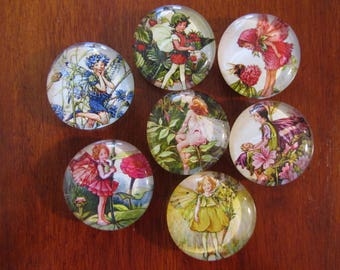 ViCTORIAN FLOWER FAiRY MAGNETS