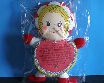 Vintage 1980's Toy - Gerber Little Red Riding Hood - Flip 'N Tell Story Doll