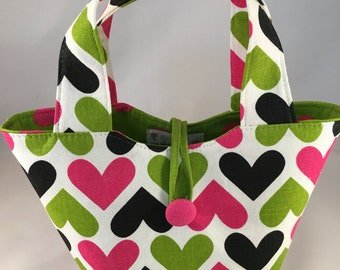 "Baby doll diaper bag ""Mommy & Me Set"" - Happy Hearts"