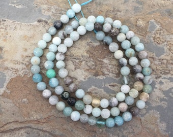 Amazonite Beads, Round Amazonite beads, Light Blue Amazonite Beads, 4mm, 16 inch strand