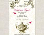 Garden Tea party - DIY printable Bridal Shower Invitation