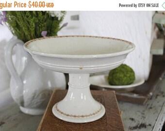 SHOP SALE Ironstone Transferware Pedestal Bowl