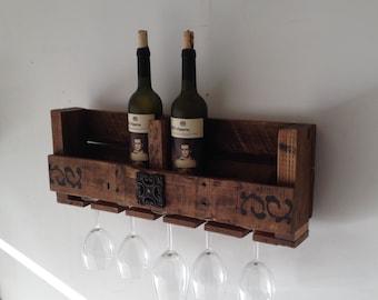 Pallet Wine Rack,Reclaimed Wood, Rustic Wood