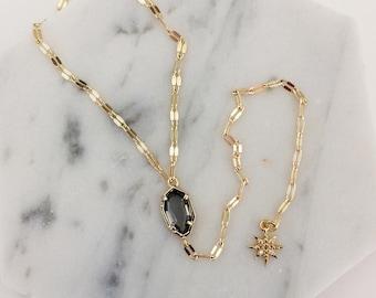 Sequin Chain Y Necklace - Y necklace, lariat necklace, starburst necklace, layering necklace