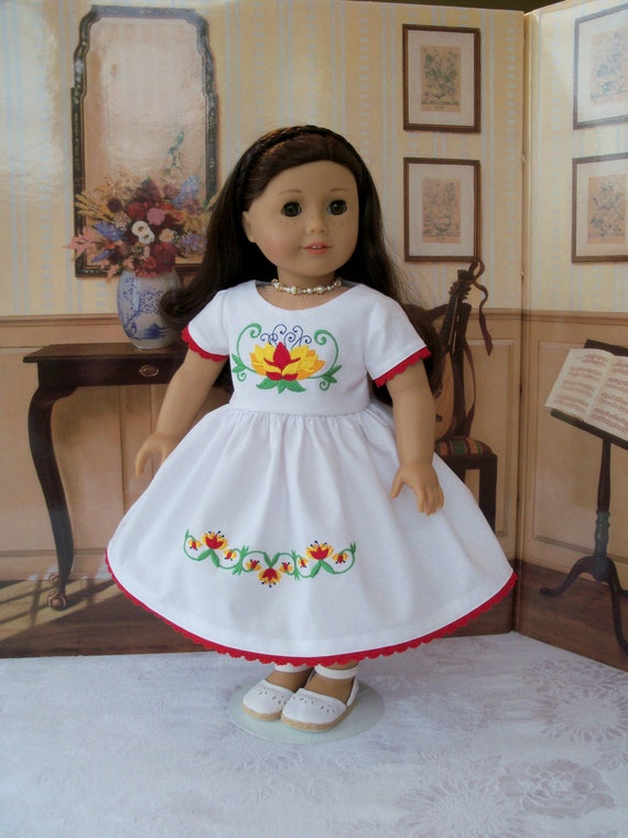 "SUMMER SALE! Embroidered  Dress/ Doll Clothes for American Girl®  Maryellen, Kit, Melody or Other 18"" Doll"