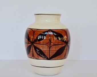 Vintage Hawaiian Pottery Vase Tiki Style Pohaku Kiln 1970s