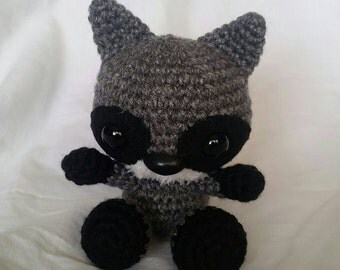 Mini Racoon Stuffed Animal/ Amigurumi/ Mini Woodland Creature