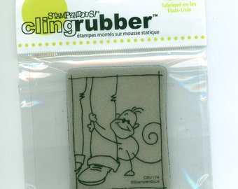 Monkey  Stamp, Cling rubber by Stampendous