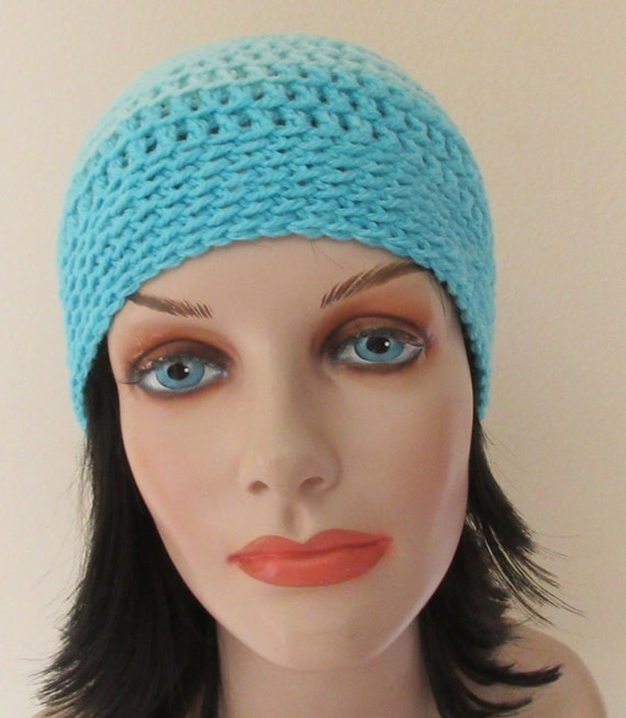 Beanie Shades of Blue Crochet Beanie Cold Weather Accessory Skiing Ice Skating Hockey Mom Snow Playing Wool Hat
