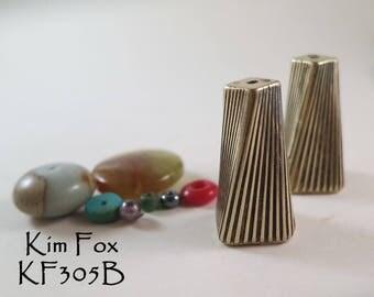 Art Deco Cones designed with a twist in bronze by Kim Fox