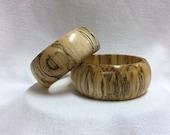 """Handmade Bangle Bracelet Set, Hackberry, No. 4, Size Large, 2.75"""" Inner Diameter"""
