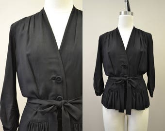 1940s Eisenberg Black Shirt/Jacket