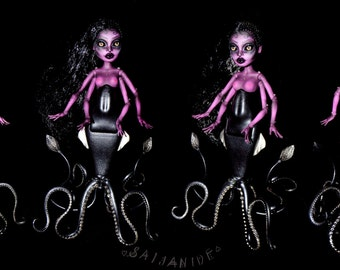 On Reserve for Iro payment 2/4 ON SALE ooak monster high doll custom repaint reroot great scarrier reef octopus witch tentacles - Ursula