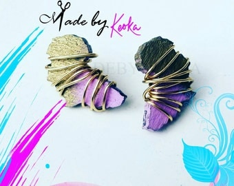 Wrapped Up Mini Africa Stud Earrings