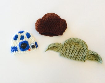 MADE TO ORDER Star Wars Baby hats, baby photo prop hats, custom sizes