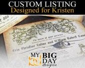 Kristen's Invitation sets: 75, with cream envelope upgrade