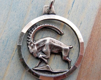 Vintage Anson Sterling Silver Ram Aries Charm or Small Pendant