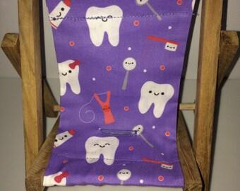 Purple Dental Happy Teeth Tooth Floss Tooth Brush Hygienist Dental Assistant Dentist Cell Phone Chair Mamakohawaii