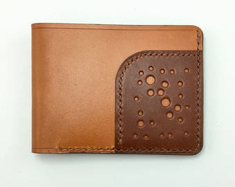 Tri Leather Wallet - Two Tone #2 - slim wallet - simple - mens leather wallet