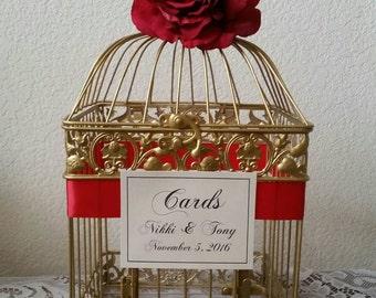 Large Bird Cage-Wedding card holder