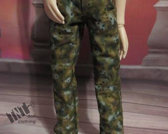 Green Moss Camo 45cm BJD Pants MSD